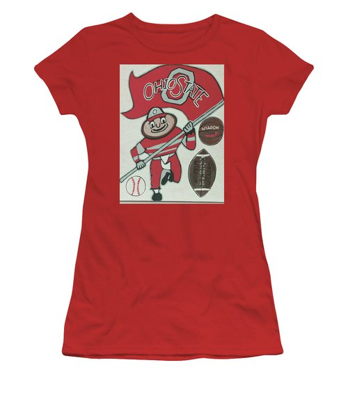 Thee Ohio State Buckeyes Women's T-Shirt (Junior Cut) by Jonathon Hansen