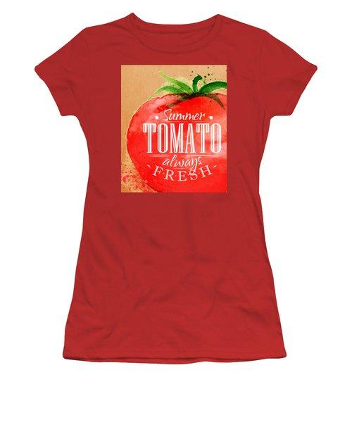 Tomato Women's T-Shirt (Junior Cut) by Aloke Creative Store