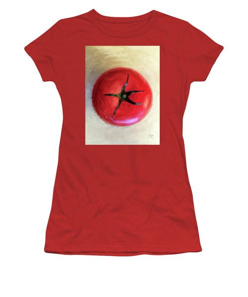 Women's T-Shirt (Athletic Fit) featuring the digital art Tomato by Lois Bryan