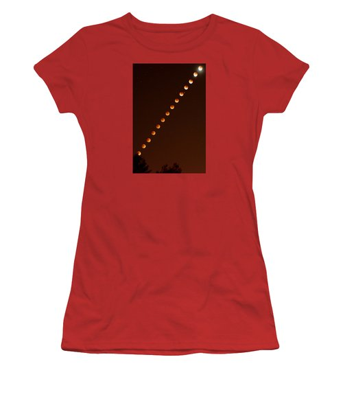 Total Lunar Eclipse September 27 2015 Women's T-Shirt (Athletic Fit)
