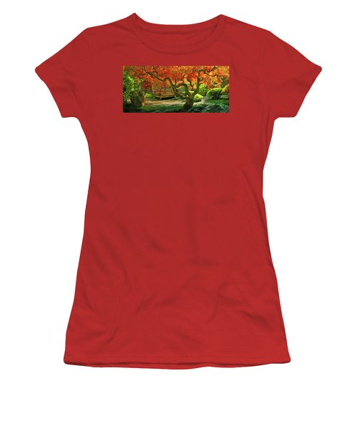 Tree, Japanese Garden Women's T-Shirt (Junior Cut) by Marius Sipa