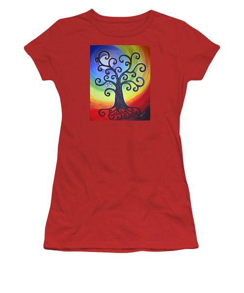 Tree Of Life Love And Togetherness Women's T-Shirt (Junior Cut) by Agata Lindquist