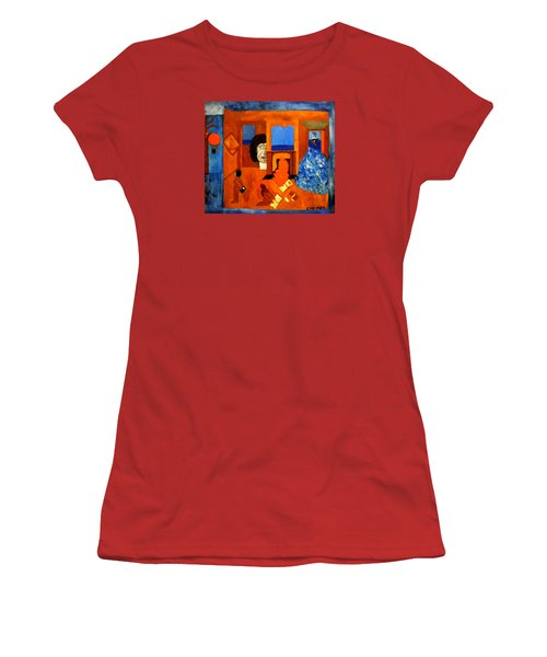 Trying To Find The Way Out Or Is It Better To Stay   Women's T-Shirt (Junior Cut) by Colette V Hera  Guggenheim