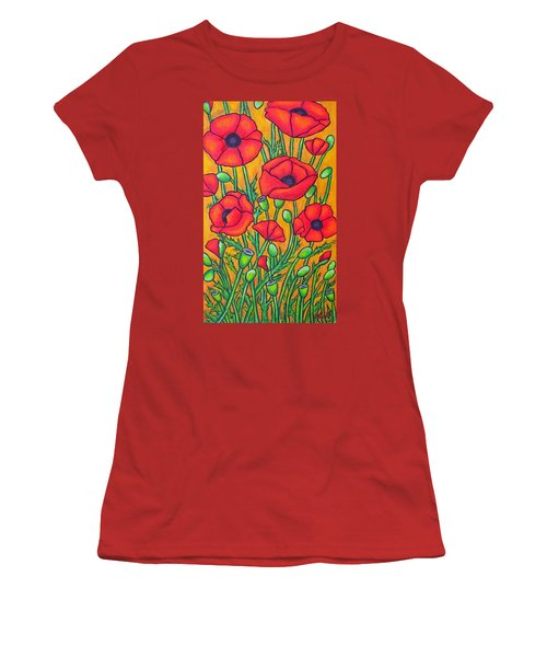 Tuscan Poppies - Crop 2 Women's T-Shirt (Athletic Fit)