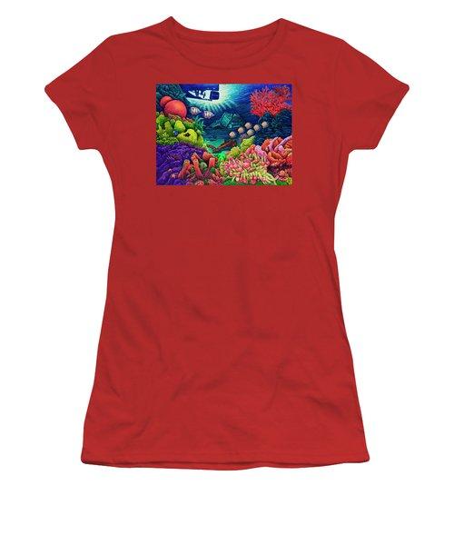 Undersea Creatures Vii Women's T-Shirt (Junior Cut) by Michael Frank
