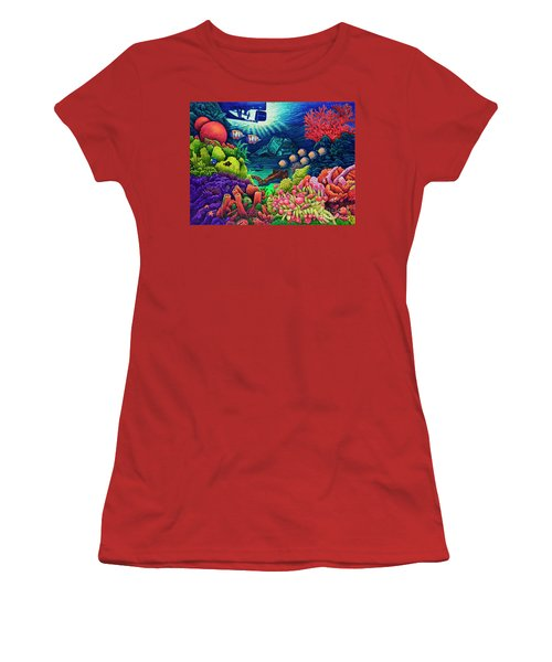 Undersea Creatures Vii Women's T-Shirt (Athletic Fit)