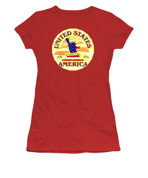United States Of America Design Women's T-Shirt (Junior Cut)