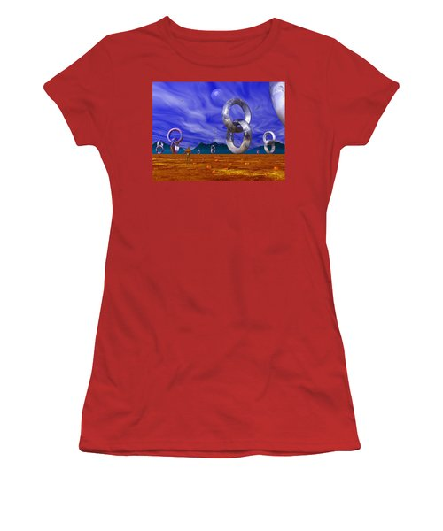 Women's T-Shirt (Athletic Fit) featuring the photograph Valley Of The Vloops by Mark Blauhoefer