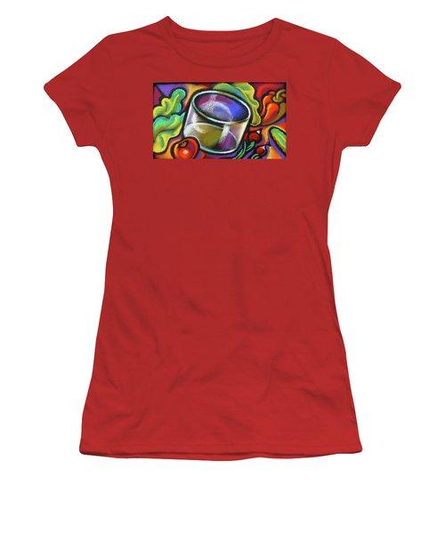 Vegetarian Food Women's T-Shirt (Junior Cut) by Leon Zernitsky