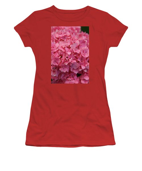 Very Pink Hydrangea Blossoms 2578 H_2 Women's T-Shirt (Athletic Fit)