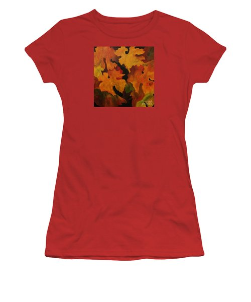 Vine Leaves Women's T-Shirt (Junior Cut) by John Stuart Webbstock
