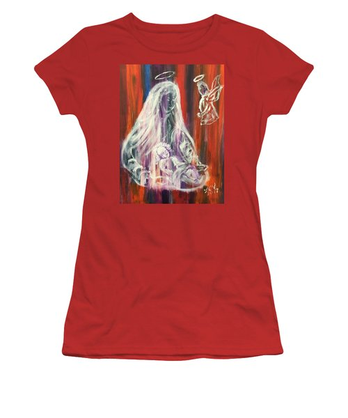 Virgin Mary And Baby Jesus Women's T-Shirt (Athletic Fit)