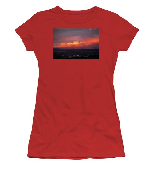 Vivid Verde Valley Sunset Women's T-Shirt (Junior Cut) by Ron Chilston