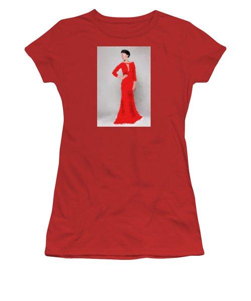 Women's T-Shirt (Junior Cut) featuring the digital art Vivienne by Nancy Levan