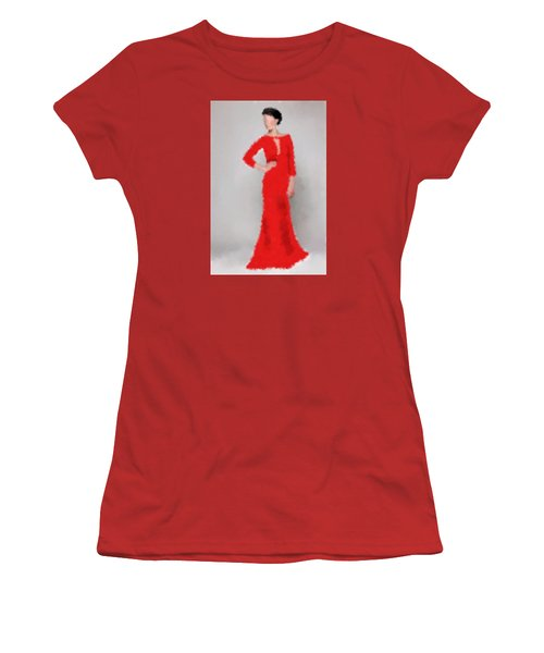 Women's T-Shirt (Athletic Fit) featuring the digital art Vivienne by Nancy Levan