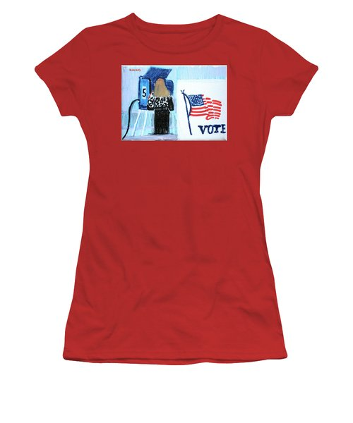 Voting Booth 2008 Women's T-Shirt (Junior Cut) by Candace Lovely