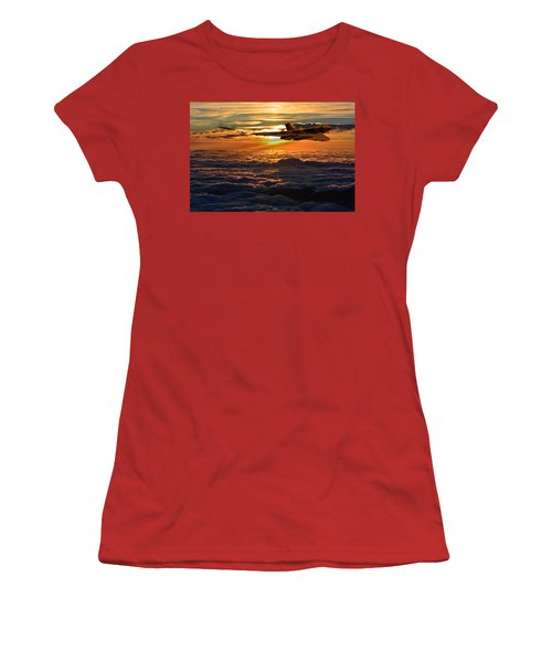 Vulcan Bomber Sunset 2 Women's T-Shirt (Athletic Fit)