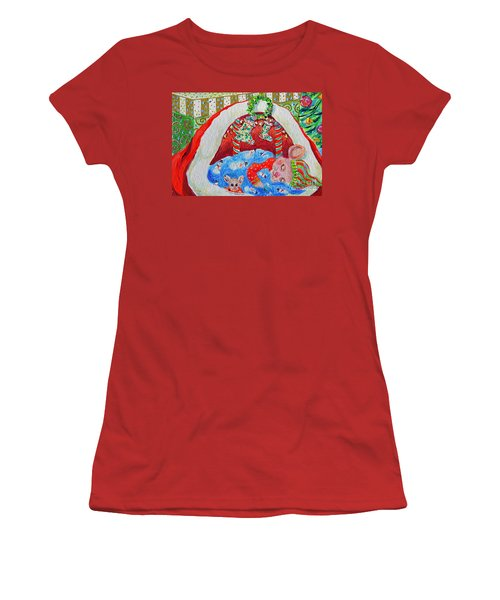 Waiting For Santa Women's T-Shirt (Athletic Fit)