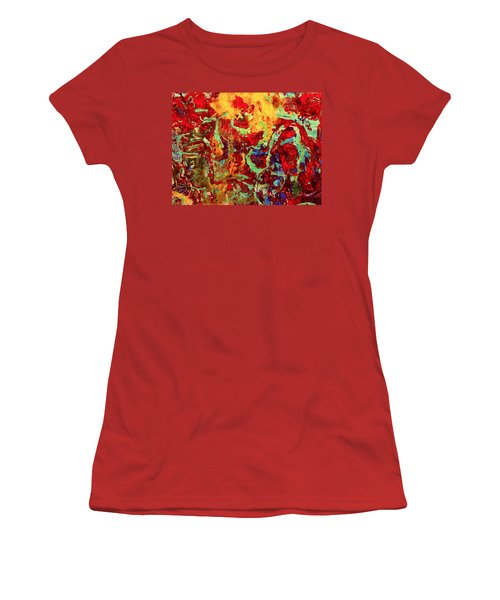 Walking In The Garden Women's T-Shirt (Junior Cut) by Natalie Holland