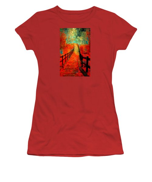Wander Bridge Women's T-Shirt (Junior Cut) by Greg Sharpe