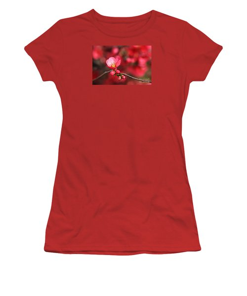 Warmth Of Flowering Quince Women's T-Shirt (Athletic Fit)