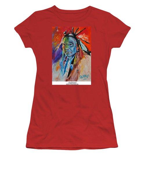 Warpaint Women's T-Shirt (Junior Cut) by Ken Pridgeon