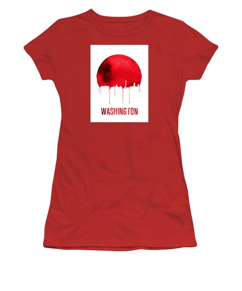Washington Skyline Red Women's T-Shirt (Athletic Fit)