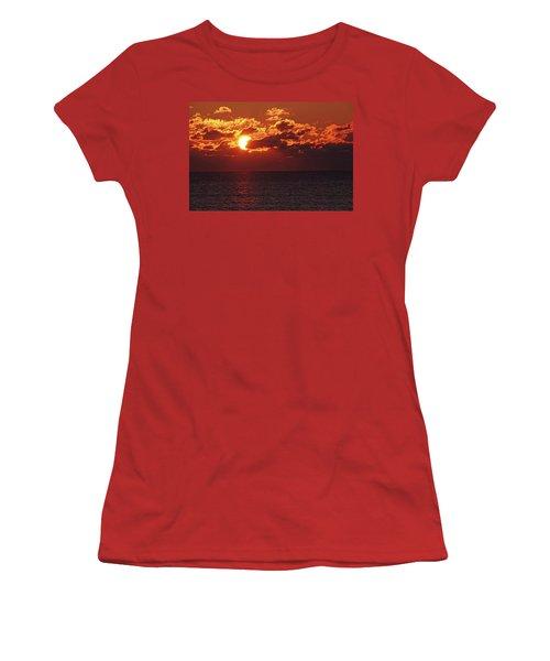 Winter Sunrise Women's T-Shirt (Junior Cut) by Greg Graham