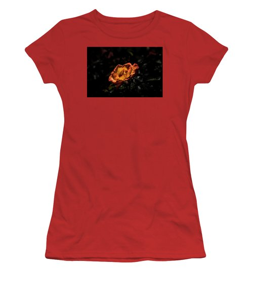 Yellow And Orange Women's T-Shirt (Athletic Fit)