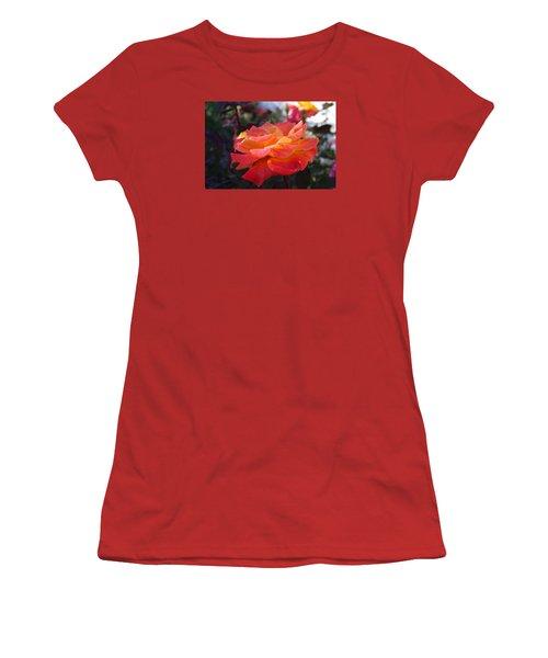 Yellow And Pink Rose Women's T-Shirt (Junior Cut)