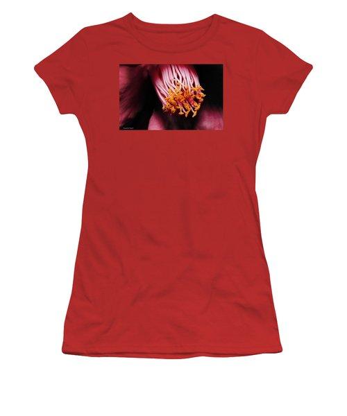 Yellow Pollen 01 Women's T-Shirt (Junior Cut) by Kevin Chippindall