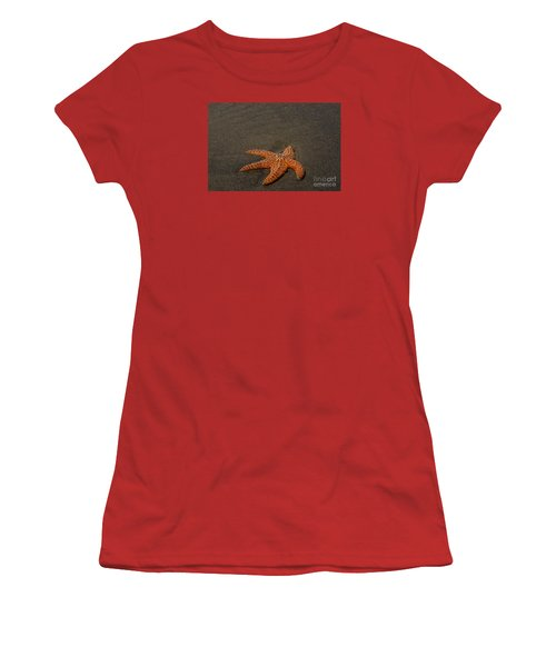 Orange Starfish On Oregon Beach Women's T-Shirt (Athletic Fit)