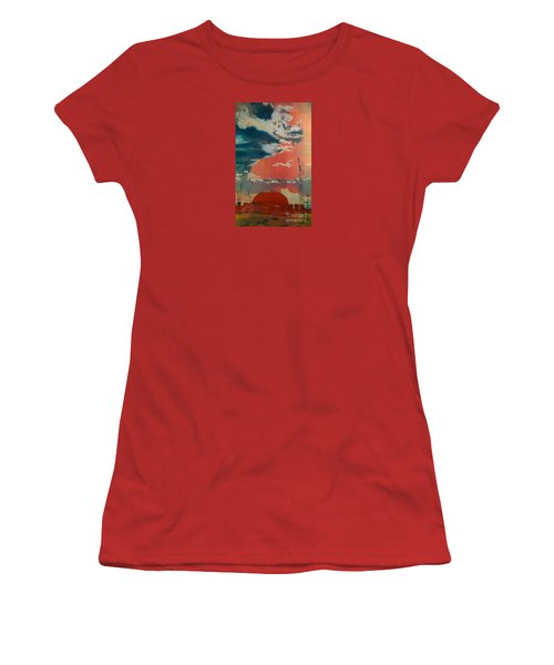 Women's T-Shirt (Junior Cut) featuring the painting Yin And Yang by Elizabeth Carr
