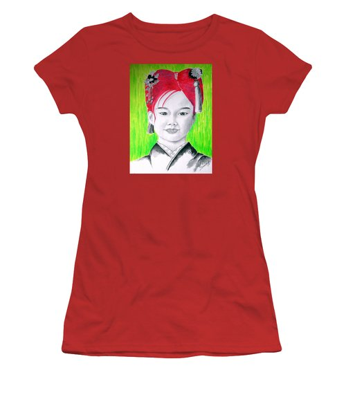 Young Japanese Beauty -- The Original -- Portrait Of Japanese Girl Women's T-Shirt (Athletic Fit)