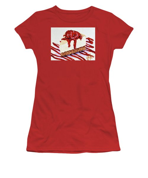 Women's T-Shirt (Junior Cut) featuring the painting Yumminess by Jackie Carpenter