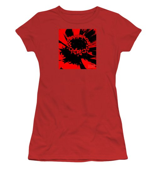 Women's T-Shirt (Junior Cut) featuring the photograph Zinnia Crown by Jeanette French
