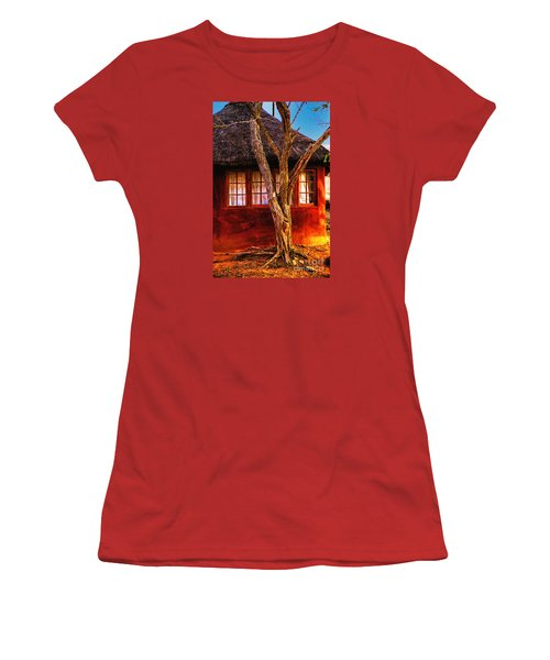 Women's T-Shirt (Junior Cut) featuring the photograph Zulu Hut by Rick Bragan