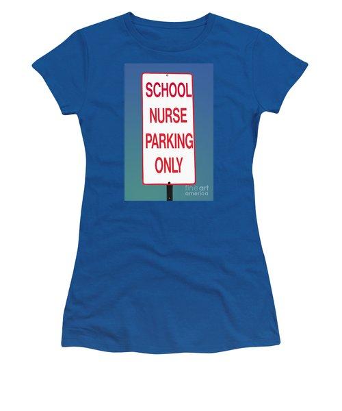 School Nurse Parking Sign  Women's T-Shirt (Athletic Fit)