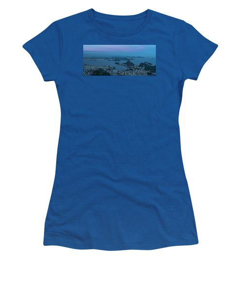 Aerial View Of City From Christ Women's T-Shirt
