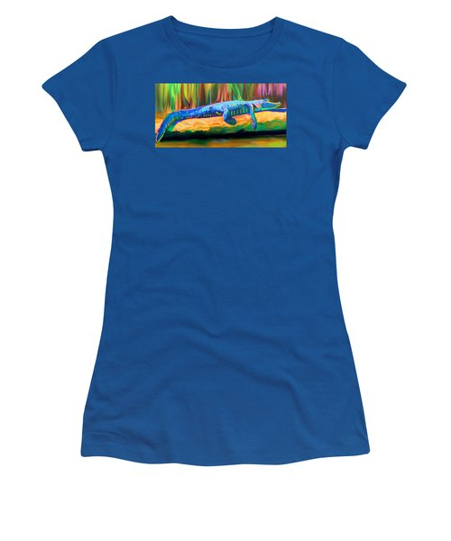 Blue Alligator Women's T-Shirt (Athletic Fit)