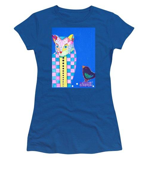Checkered Cat Women's T-Shirt