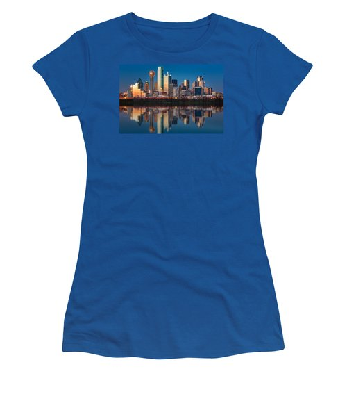 Dallas Skyline Women's T-Shirt (Junior Cut) by Mihai Andritoiu