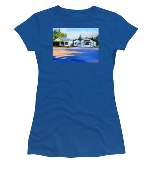 Huckstep's Garage Free Union Virginia Women's T-Shirt (Junior Cut) by Catherine Twomey