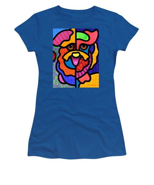 Happy Dog Women's T-Shirt (Athletic Fit)