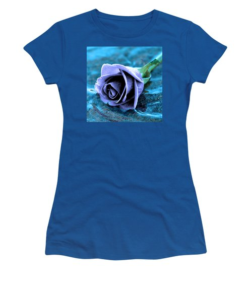Rose In Water  Women's T-Shirt (Athletic Fit)
