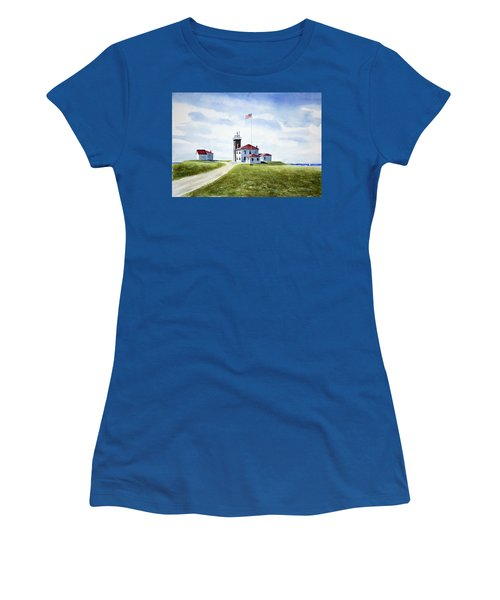 Watch Hill Ri Lighthouse Women's T-Shirt (Athletic Fit)
