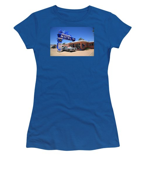 Route 66 - Blue Swallow Motel Women's T-Shirt