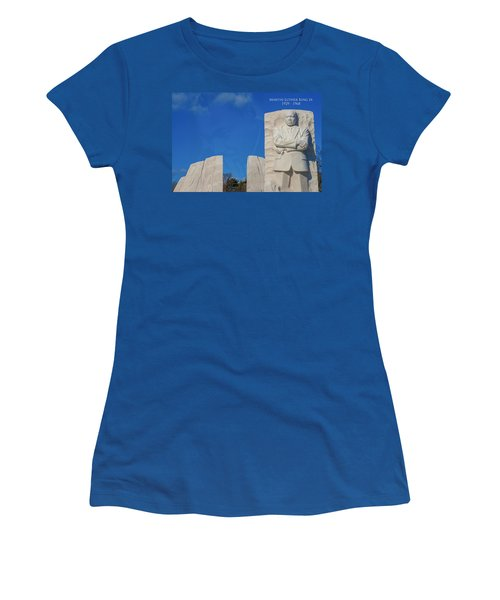 Women's T-Shirt featuring the photograph Martin Luther King Jr Memorial by Theodore Jones
