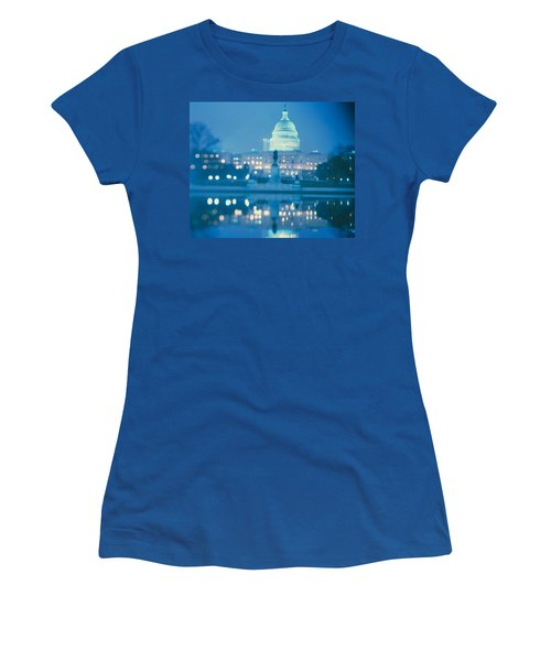 Government Building Lit Up At Night Women's T-Shirt (Athletic Fit)