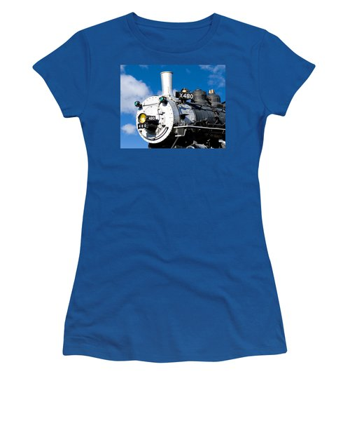 Smiling Locomotive Women's T-Shirt (Athletic Fit)